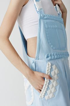 cute details on pastel overalls
