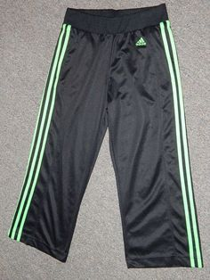ADDIDAS WORKOUT EXERCISE ATHLETIC PANTS BRAND NEW S BLACK LIME GREEN CROPPED in Clothing, Shoes & Accessories   eBay #exercise #apparel #deal #brandnew #pants #yogapants #addidas #cropped #workoutclothes womens #ebay #ebay.com