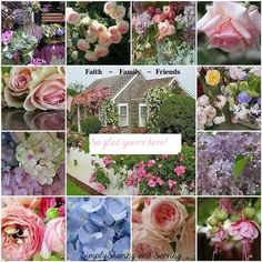 Beautiful flowers in this cottage garden-color inspiration Collages, Beautiful Collage, Pink Cotton Candy, Romantic Homes, Rose Cottage, My Secret Garden, Dream Garden, Garden Inspiration, Inspiration Boards