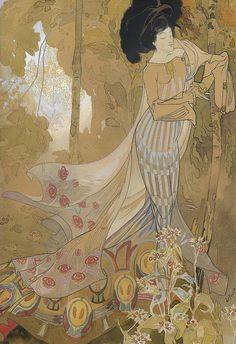 """""""Fleurs d'Automne (Autumn Flowers)"""", 1900-03, by Georges de Feure (French, 1868-1928)"""