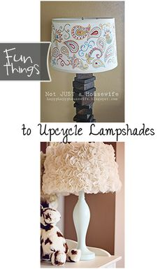 Fun Things to Upcycle Lampshades