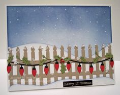 #cheeryld Glitter, Stamps, and Ink (Oh My...): Christmas in July: Holly Swag Fence