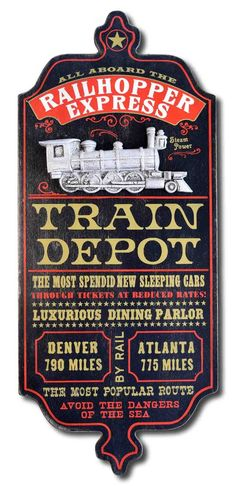 Train Depot - Personalized Dubliner Wood Sign