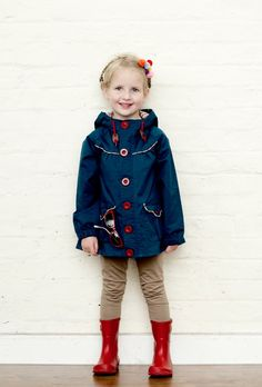 Summer raincoat from Little Duckling for 2013 spring, will be much needed if this years weather repeats itself!