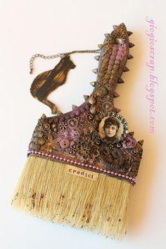 Scrap in Progress-Altered Paintbrush