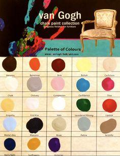 van Gogh chalk paint collection color chart