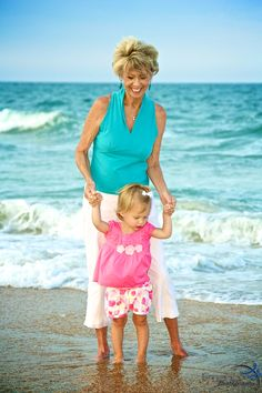 "500px / Photo ""Standing with grandma in the water"" by Pete Arnold  New Smyrna Beach, FL Family Beach Photos"