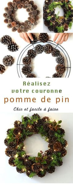 Diy pinecone wreath in 1 hour is part of Pinecone crafts Rustic - The best part This wreath takes only one hour to make, and you can make it for almost free! Are you ready to collect some pretty pine cones DIY PINECONE % Rustic Christmas, Winter Christmas, Christmas Trees, Merry Christmas, Pine Cone Christmas Decorations, Pinecone Decor, Christmas Quotes, Christmas Lights, Winter Decorations