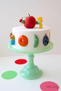 Hungry Caterpillar cake Raupe Nimmersatt Torte