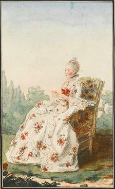 Madame de Boissandré, femme de l'écuyer commandant l'écurie de Monsieur le duc d'Orléans by Louis Carrogis (Musée Condé - Chantilly France) | Grand Ladies | gogm