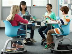 Make active learning easier with the mobile, flexible Node school chair. Student collaboration has never been easier than with Node.