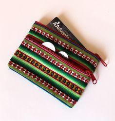 Manta Fabric Coin/Credit Card Purse - Green