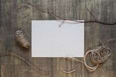 Blank sheet of paper and decoration by AlinaKho on Creative Market