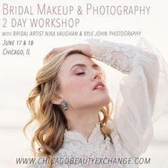 """Attention hair & makeup bridal artists: @chicagobeautyexchange is presenting """"Bridal Makeup & Photograohy,"""" a 2 day workshop June 16 & 17 with Nika Vaughan, lead artist/owner of @nikavaughanbridalartists and film photographer @kylejohnphoto. Day one focuses on hands on makeup artisty, and day two is a photo session to create 2 bridal looks to elevate your portfolio. Contact Chicago Beauty Exchange for more info and reserve a spot. http://www.chicagobeautyexchange.com  Photo: #kylejohnphoto…"""