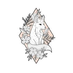 Another wild floof! Foxes are so cute to draw What animal should I do next? . . . #botanicalillustration #fineliner #lineart #ink #fox #foxdrawing #wildflowertattoo #floraltattoo #wildflowers #instaart #diamond #sketch #dotwork