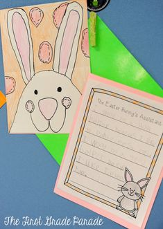 Easter Bunny- directed draw with crayons