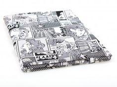 Dzianina drukowana Komiks czarno - biały