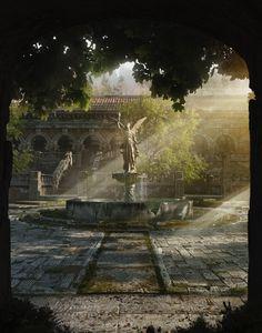 [Interview] Guilherme Henrique: the Art Director behind Blender Guru - BlenderNation Fantasy Concept Art, 3d Fantasy, Fantasy Places, Fantasy Artwork, Fantasy World, Fantasy Art Landscapes, Fantasy Landscape, Top Blenders, Foto Art