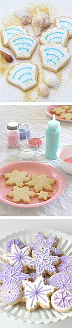 Terrific instructions on how to decorate these cookies come with her recipe