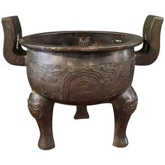 Early Ming Dynasty Archaistic Bronze Ding Vessel 1