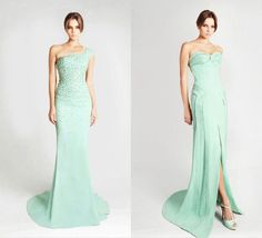 2013 Spring Summer Mint Color Trend Wedding Gowns