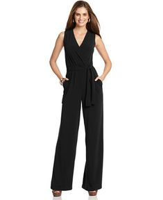 NY Collection sleeveless wide leg jumpsuit, $35, Macy's