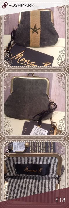 NWT Upcycled Coin Purse Funky recycled material coin purse from Mona B collection. New in package. Mona B Bags Wallets