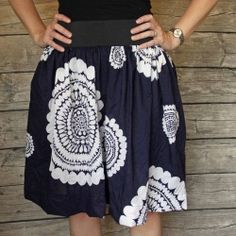 Make this fun and flirty summer skirt for yourself.. easy tutorial