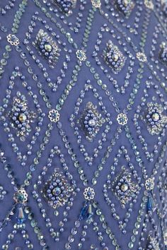 A HARTNELL EMBROIDERY DETAIL, CIRCA 1970.