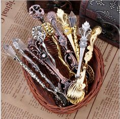 Promotions Price!!! 12 kinds of style Vintage carved coffee spoon,Ice cream spoon Free Shipping 10 Pcs/lot # H0242 -in Coffee Scoops from Ho...