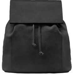 Lapel Leather Backpack ($20) ❤ liked on Polyvore featuring bags, backpacks, accessories - bags, drawstring backpack bag, leather drawstring bag, draw string backpack, drawstring backpack and backpack bags