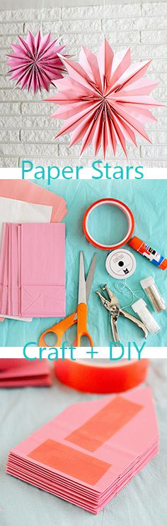 Paper Bag Starts: make-your-own-paper-bag-party-hanging-stars