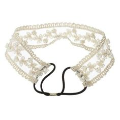cytprimedesign Fashion Lady Girls Sweet Pearl Beads Lace Wide Elastic Headband Hair Band Bridal >>> Learn more by visiting the image link.