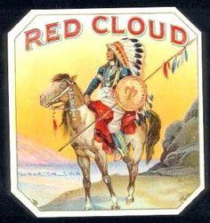vintage cigar box label - Red Cloud