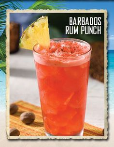 . Barbados Rum Punch, Barbados.You're officially welcome in Barbados ...