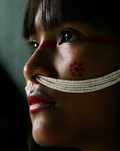BRASIL | Marubo tribe, Javari Valley, Brazil...her culture tells her so...but her look tells me otherwise<3