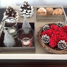 As minhas decorações natalícias.