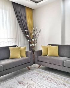 The living room color schemes to give the impression of more colorful living. Find pretty living room color scheme ideas that speak your personality. Living Room Color Schemes, Living Room Colors, Living Room Grey, Living Room Interior, Home Living Room, Living Room Designs, Living Room Decor Curtains, Decor Room, Curtain Ideas For Living Room