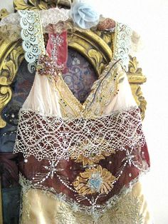 Marrakesh Dress Antique Embroidery Vintage Lace by AllThingsPretty, $395.00