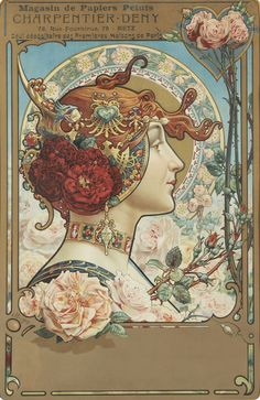 Artist: Louis Théophile Hingre Born November 1832 predating Mucha by who was born July Most of his work was done while Mucha was still an infant which makes him the true father of Art Nouveau (even though Mucha popularized it). Art Nouveau Mucha, Alphonse Mucha Art, Art Nouveau Poster, Art And Illustration, Illustrations, Design Art Nouveau, Art Design, Retro Poster, Poster Vintage