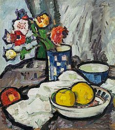 George Leslie Hunter - Still life with fruit and flowers