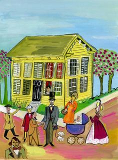 Maira Kalman : Abe  Yellow House.
