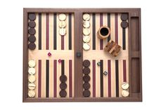 Backgammon board set wooden and handmade by ArtisanLaneDesigns.
