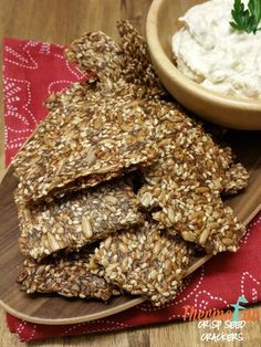 Week 15 - Thermomix Crisp Seed Crackers. Join Today! and have access to these past recipes.