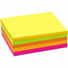 120 Assorted Neon A6 Card Sheets for Crafts   Coloured Card for Crafts