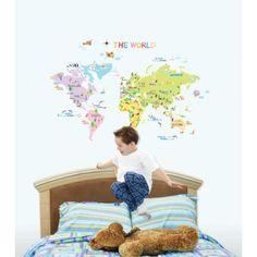 muurstickers babykamer De Wereld