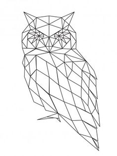 The Best Temporary Geometric Owl tattoos. Only EasyTatt Geometric Owl Tattoos Look Real, Use Your Own Design or Choose from Thousands of Designs. Geometric Owl, Geometric Drawing, Geometric Designs, Geometric Shapes, Owl Silhouette, Silhouette Vector, Polygon Art, Illustration, String Art