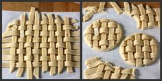 Eggnog Lattice Sugar Cookie Toppers  You can place these as a decorative cup topper!