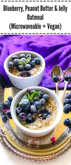 When peanut butter and jelly meets oatmeal and blueberries, an out of this world treat is born. Now its up to you to decide whether its a breakfast or lunch snack (or maybe both)!