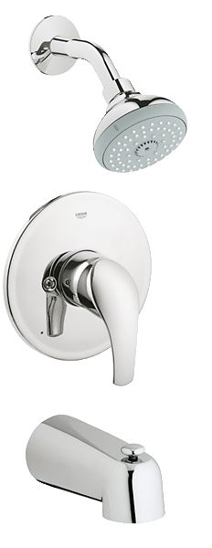 GROHE Eurosmart® Bath Collection. Pressure balance valve shower / bath combination